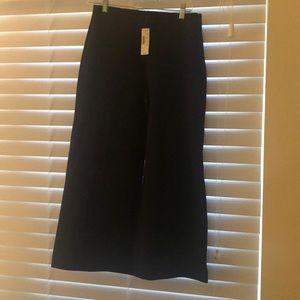 JCrew Wide Leg Cropped Trouser